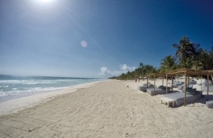 The beach in Tulum, Mexico - South side at BeTulum hotel & beach club.