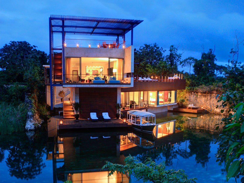 rosewood-mayakoba-villa-night
